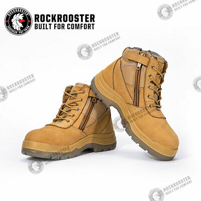 ROCKROOSTER Men's Work Boots,Steel Toe, Antistatic, Water Resistant Shoes