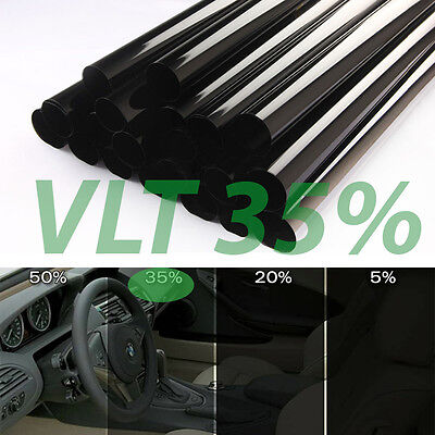 "Uncut Window Tint Roll 35% VLT 25"" 100 ft feet Home Commercial Office Auto Film"