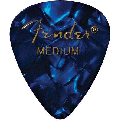 Fender 351 Shape Premium Celluloid Guitar Picks, 12-Pack, Medium, Blue (Fender 351 Shape)