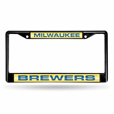 Milwaukee Brewers MLB Black Metal Laser Cut License Plate Frame