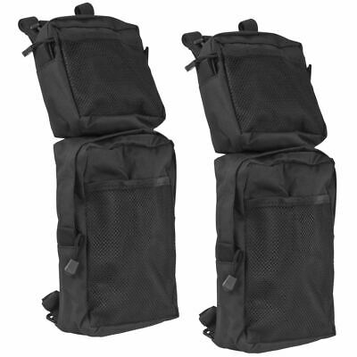 2-Pack Black Quad ATV 4-Wheeler Fender Cargo Storage Hunting Bags