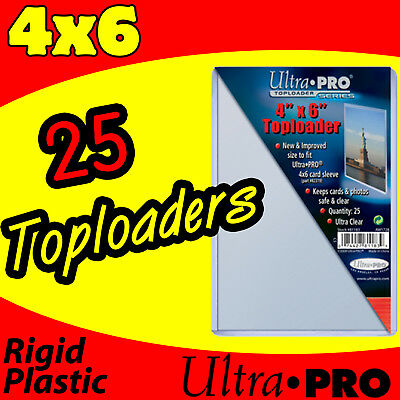 25 ULTRA PRO 4x6 HARD RIGID TOP LOAD TOPLOADER POSTCARD PHOTO HOLDER SLEEVES