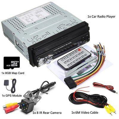 "1 Din Car MP5 Player 7"" Autoradio Stereo GPS Navigation Bluetooth FM USB SD +CAM"
