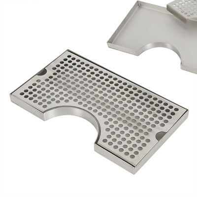304 Stainless Removable Kegerator Tap Draft Beer Drip Tray 3 Bottom Flange