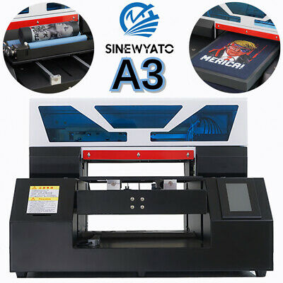 Uv Printer A3 Flatbed Cylindrical Signs 3d Glass Metal Rotation Embossed