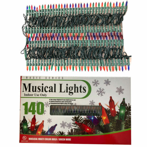 (140 Set) Basic Series Multi Color Christmas Deco Musical Lights X-mas Carols