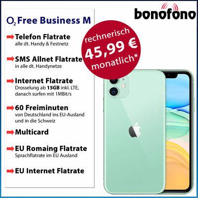 Apple iPhone 11 256GB- o2 Free Business M Allnet Flatrate|SMS|Internet Flat 15GB online kaufen