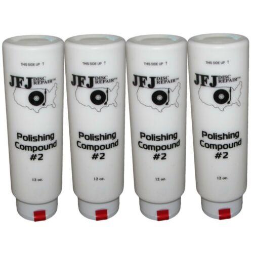 4 x JFJ EASY PRO Polishing Compound Solution #2 WHITE 12oz