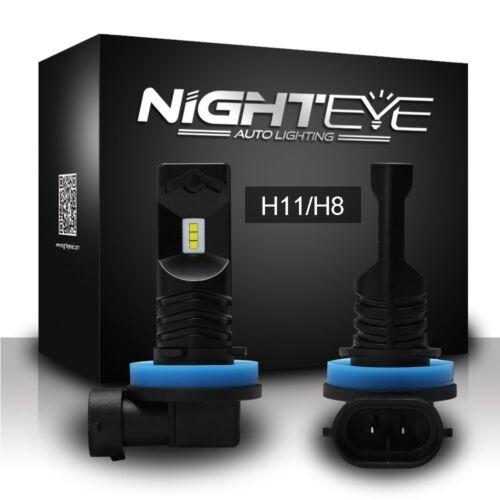 Car Parts - Nighteye 2x H11 H8 H9 Auto Car LED Fog Light Bulbs Driving Lamp DRL 6500K White