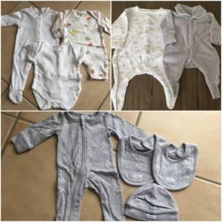 b9d2e67f3e40 Newborn baby unisex starter bundle