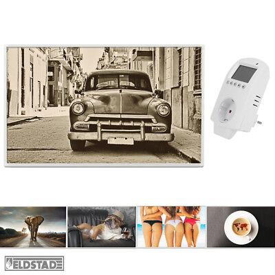 Eldstad Infrarotheizung 600 Watt Bildheizung Thermostat Heizpaneel Heizung