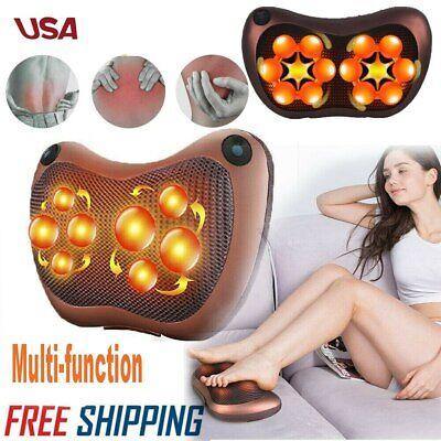 Electronic Heat Massage Pillow Kneading Massager Neck Back Shoulder Body Relax # (Electronic Back Massager)