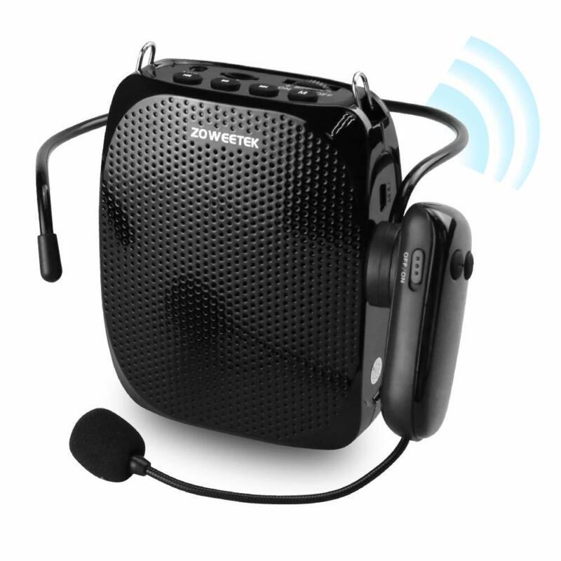 ZOWEETEK Voice Amplifier with UHF Wireless Microphone Headse