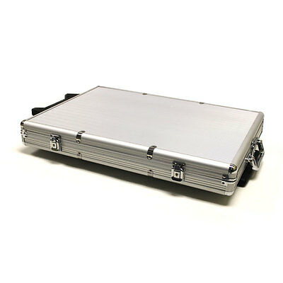 1000 Count Rolling Aluminum Casino Poker Chip Storage Case New