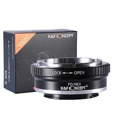 FD-NEX FD Mount Lens to Sony NEX-3 NEX-5 NEX-VG10 Camera E Mount Adapter Ring