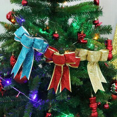 1Pcs Big Bow-knot Christmas Tree Hanging Ornament For Home Decor DIY Decoration ()
