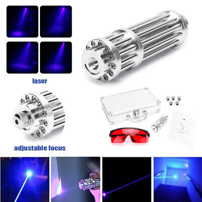 Usb Rechargeable Blue Visible Beam Laser Pointer Light High Power Focus Box Us