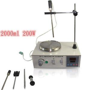 Magnetrührer mit Heizung Heizplatte Magnetische Mixer 1000ML 2000 rpm  Digital