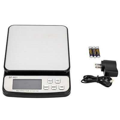 110 Lb X 0.35oz Digital Postal Shipping Scale Weight Postage Adapter W Battery