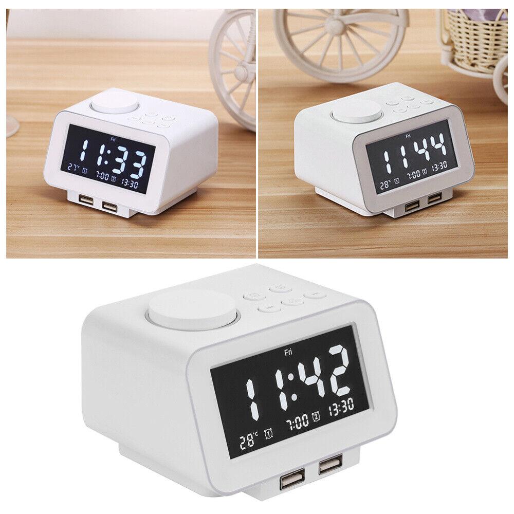 24 Timer Sound details about digital led display alarm clock fm/am radio 24 hours snooze  desktop desk timer