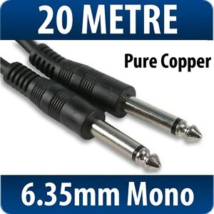 6.35mm Mono Jack to Jack Plug 6.3mm Guitar Keyboard Amp Lead  1/4 Cable Electric