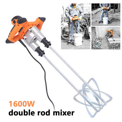 Industrial 1600w Electric Concrete Cement Mixer Thinset Grout Mud Mixing Mortar