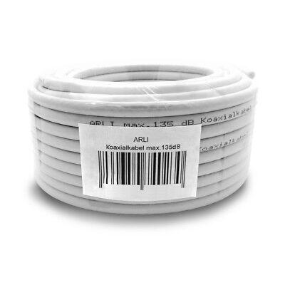 HD 4K Sat Kabel 20 m 135 dB 4 F Stecker Abisoliermesser Antennenkabel Koaxial TV