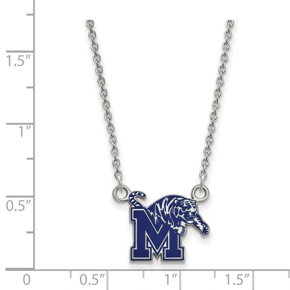 925 Sterling Silver Rhodium-plated Laser-cut North Carolina State University Small Pendant w//Necklace 18