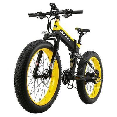 LANKELEISI XT750 Plus Bicicleta eléctrica plegable 48V 12.8AH 500W 26X4.0 Neumát