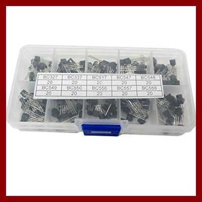 10values 200pcs Npn Pnp Transistor Assorted Kit Bc327 Bc337 Bc517 Bc54 200 Piece
