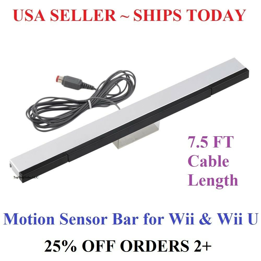 Wired Infrared Sensor Bar for Nintendo Wii Wii U Remote USA