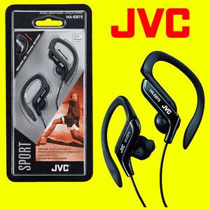 JVC HA-EB75B BLACK SPORTS ADJUSTABLE EAR CLIP EARPHONES HEADPHONES GYM RUNNING