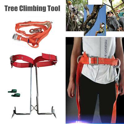 Tree Climbing Tool Pole Climbing Spike Hook Non-slip Climbing Tree Shoes Belt