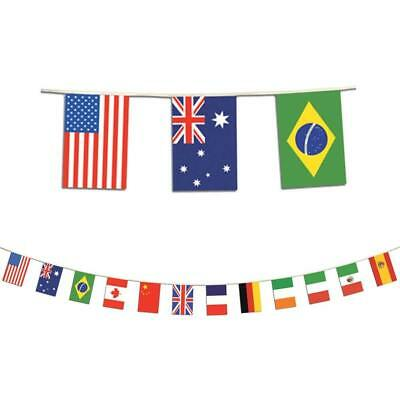 INTERNATIONAL FLAG BANNER Wall Party Decorations School Classroom Decor Pennants (International Party Decorations)