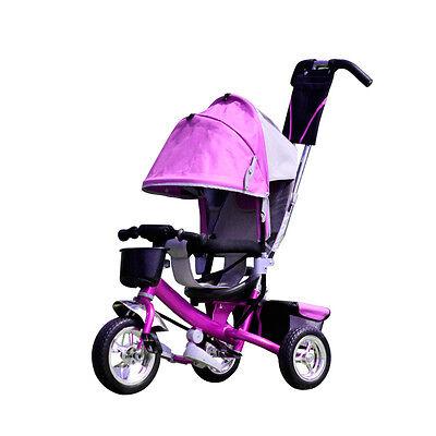 Dreirad Kinder mit Dach Lenkstange Kinderdreirad Fahrrad Baby Kleinkinder AUS DE