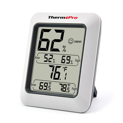 Humidity Thermometer - ThermoPro TP-50 Digital Thermometer LCD Hygrometer Temperature Humidity Monitor