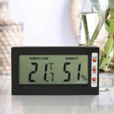 Digital Lcd Thermometer Hygrometer Max Min Memory Celsius Fahrenheit Ma