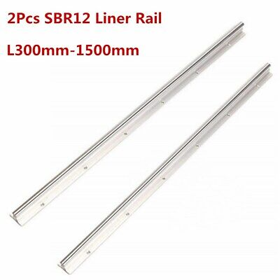 2x Sbr12-300400500 6008001000120013001500mm 12mm Linear Rail Guide Shaft