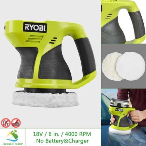 RYOBI 18V Buffer Polishing 6 in 4000 RPM 1 Speed Compact with Bonnet TOOL ONLY