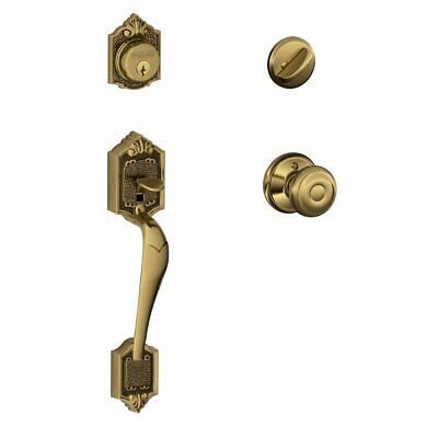 Parthenon Single Cylinder Handleset and Georgian Knob, Brass (F60 V PAR 609 -