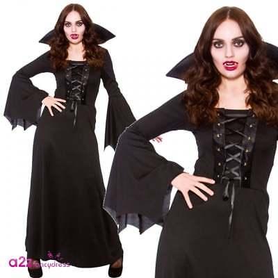 Dunkle Vampirin Erwachsene Damen Halloween Kostüm Gothic - Dunkle Zauberin Damen Kostüm