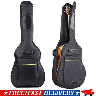 """41"""" Dual Adjustable Shoulder Strap Acoustic Guitar Soft Case Cover Gig Bag BO"""