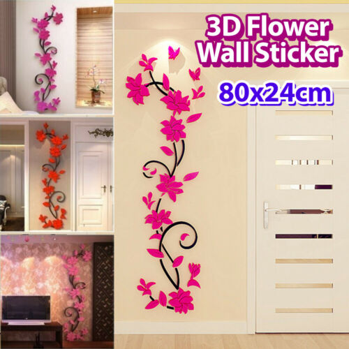 Home Decoration - Vinyl Removable DIY 3D Flower Wall Sticker Quote Decal Mural Home Room Decor Art