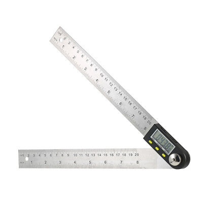 360 Degree Lcd Digital Protractor Angle Finder 0-200mm8 Ruler Data Hold I1n8