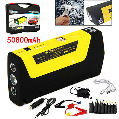 UK 50800mAh Car Jump Starter Pack Portable Booster Charger Battery Power Bank
