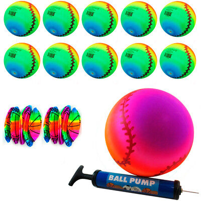 12 Rainbow Ball Inflatable PVC Play Soccer Volleyball Beach Pool Birthday Party](Inflatable Soccer Ball)