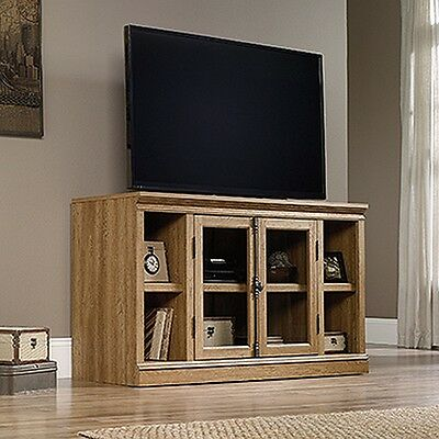 Sauder 416798 Barrister Lane Entertainment Credance Scribed Oak Finish NEW Maple Oak Tv Stand