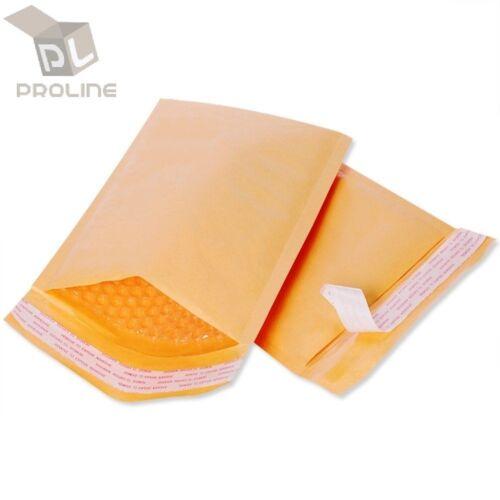 250 pcs #0 Kraft Bubble Padded Envelopes Self-Sealing Mailers 6x10 (Inner 6x9)