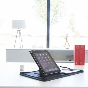 A4 Conference Folder Zipped Folio Case iPad Holder Pu Leather Business Organiser