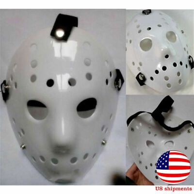 1X Jason Voorhees Friday 13th Horror Movie Hockey Mask Scary Halloween Cosplay (Scary Hockey Mask)